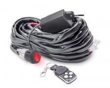 Кабели с дистанционно и ключ за два LED фара 2,5м 180W