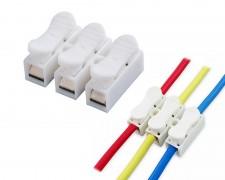 Конектор клема бърза връзка за три проводника 0,5 – 2,5 мм
