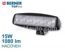 LED фар 15W 1080lm 5 led насочен Berner TOPline