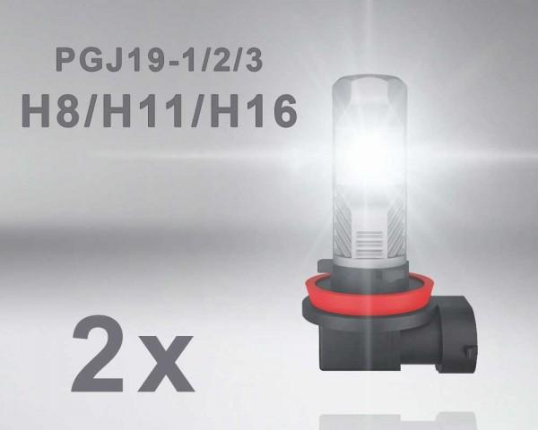 LED авто лампи комплект Н8/ Н11/ Н16 12V 8.2W OSRAM