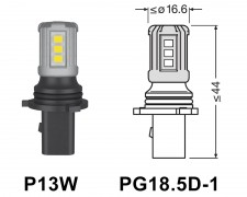 LED авто крушка БЯЛА P13W 12V 1.6W OSRAM