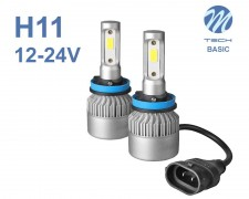 LED авто лампи комплект H11 Basic 12-24V 2х16W M-TECH