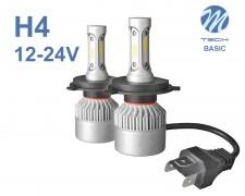 LED авто лампи комплект H4 Basic 12-24V 2х16W M-TECH
