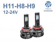 LED авто лампи комплект H11/H8/H9 12-24V 2х16W M-TECH