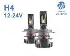 LED авто лампи комплект H4 къси/дълги 12-24V 2х24W  M-TECH