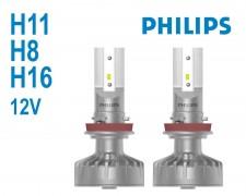 LED авто лампи Philips Ultinon LED Fog H11/H8/H16 комплект 12V 2х20W