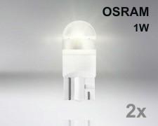 Крушка W5W LED OSRAM Premium 1W 12V  ТОПЛО БЯЛА комплект