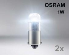 Крушка T4W BA9s LED OSRAM 1W 12V БЯЛ комплект
