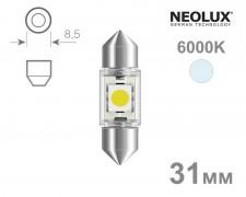 Крушка C3W LED 31мм NEOLUX 12V БЯЛА