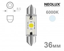 Крушка C5W LED 36мм NEOLUX 12V БЯЛА