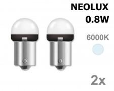 Крушка R5W BA15s LED NEOLUX 0.8W 12V БЯЛ комплект