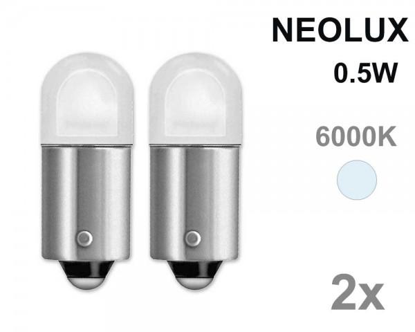 Крушка T4W BA9s LED NEOLUX 0.5W 12V БЯЛ комплект