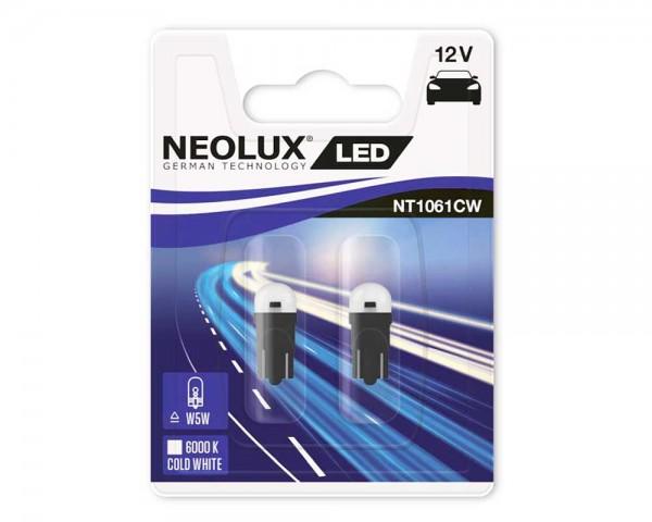 Крушка T10 W5W LED NEOLUX 0.65W 12V БЯЛ комплект
