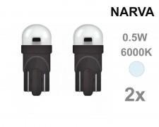 Крушка W5W T10 LED NARVA 12V БЯЛ 0,5W комплект