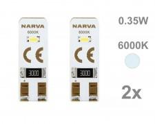 Крушка W5W T10 LED NARVA 12V БЯЛ комплект