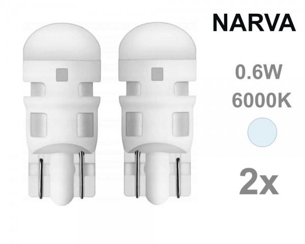 Крушка W5W T10 LED NARVA 12V БЯЛ 0,6W комплект