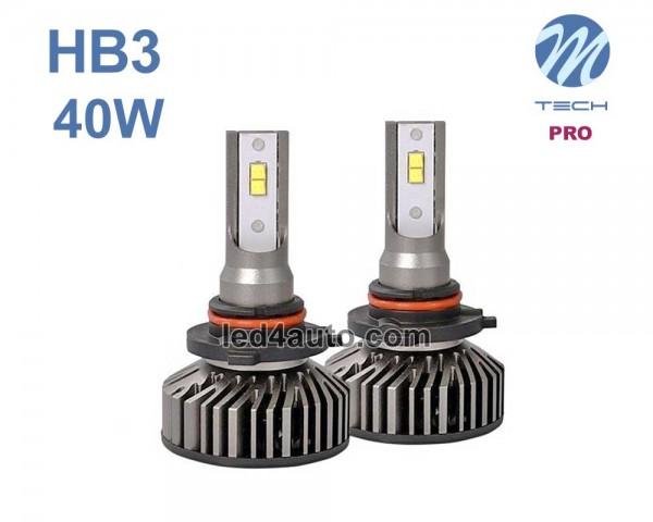 LED авто лампи комплект HB3 PRO 12V 2х20W M-TECH