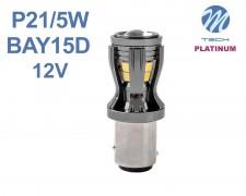 LED авто крушка  BAY15d P21W/5W 14x2835 БЯЛА 12V M-tech
