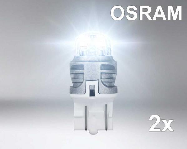 Крушка LED W21/5W БЯЛА 1,5W 12V OSRAM комплект