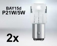 LED авто крушка  BAY15d  P21W/5W БЯЛА 12V OSRAM комплект