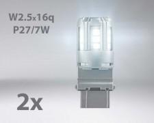 LED авто лампи комплект БЕЛИ P27/7 12V 2.5W OSRAM STANDARD