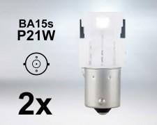 LED авто крушки BA15s P21W БЕЛИ 12V OSRAM комплект
