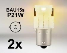 LED авто крушки BAU15s P21W ОРАНЖЕВА 12V OSRAM комплект