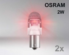 Крушка LED BA15s / P21W ЧЕРВЕНА 12V OSRAM комплект