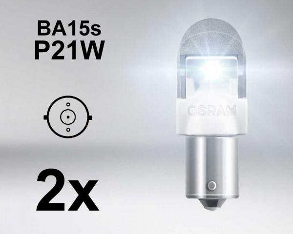 Крушка LED BA15s / P21W БЯЛА 12V OSRAM PREMIUM комплект