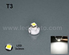 LED 3030 лампа за табло Т3 БЯЛА