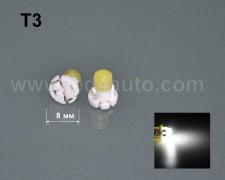 LED лампа за табло Т3 БЯЛА