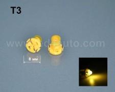 LED лампа за табло Т3 ЖЪЛТА