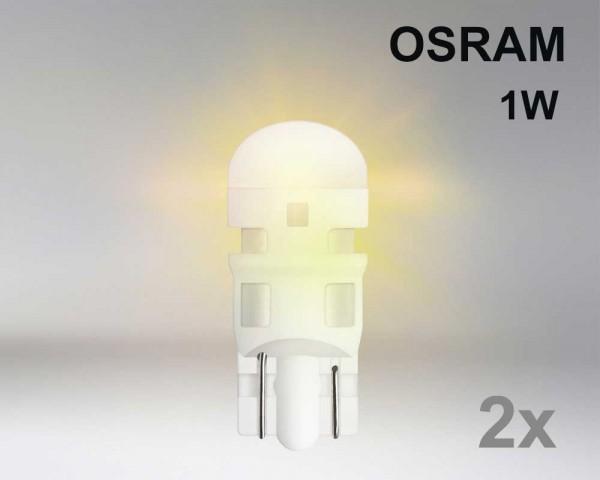 Крушка W5W LED OSRAM 1W 12V ОРАНЖ комплект