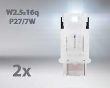 LED авто лампи комплект БЕЛИ P27/7 12V 1.7W OSRAM STANDARD