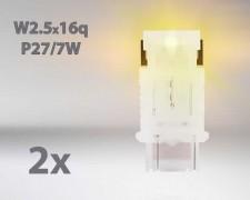 LED авто лампи комплект ОРАНЖЕВИ P27/7 12V 1.7W OSRAM STANDARD