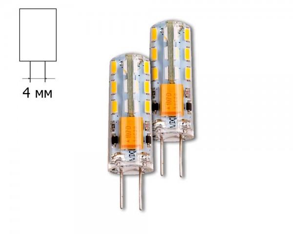 LED ЛАМПА 2W G4 2700K 12V DC 3014  2 БР./БЛИСТЕР