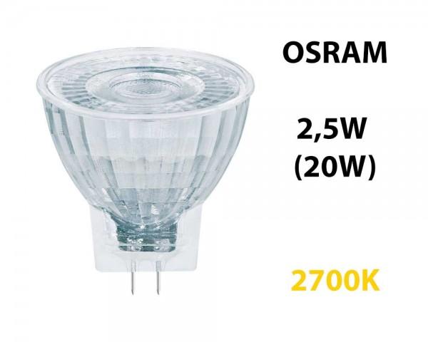 LED СПОТ ЛАМПА ЛУНИЧКА - 2.5W MR11 12V 2700K OSRAM