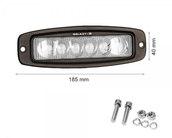 LED фар за панел 6D 18W mini насочен