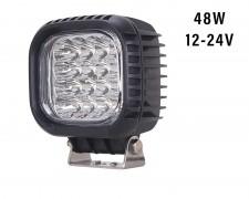 Професионален LED фар със стойка 48W квадрат насочен