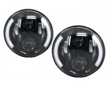 LED фарове 7 инча 45W  H4 къса и дълга светлина комплект