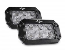 LED фарове за вграждане в панел и броня 6 LED 18W COMBO комплект