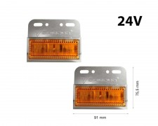 LED странични габарити 24V - оранжев