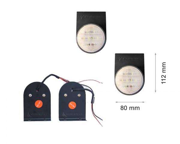 LED задни фарове - бяла светлина единичен малък