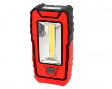 Акумулаторна LED аварийна работна лампа с COB и червена светлина