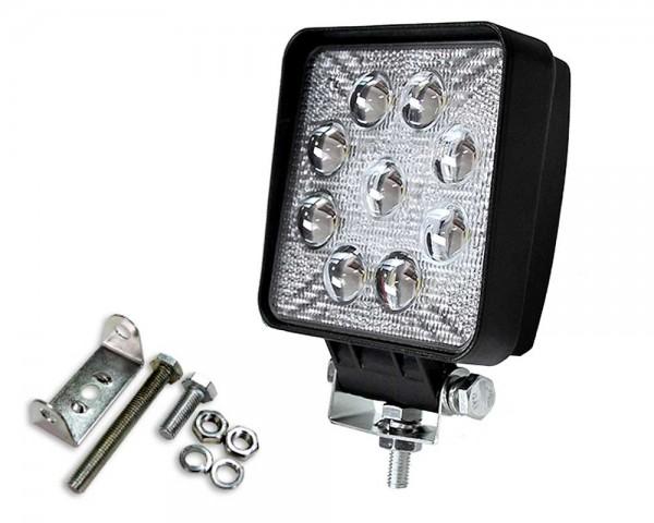 Работен LED фар със стойка 27W квадрат насочен