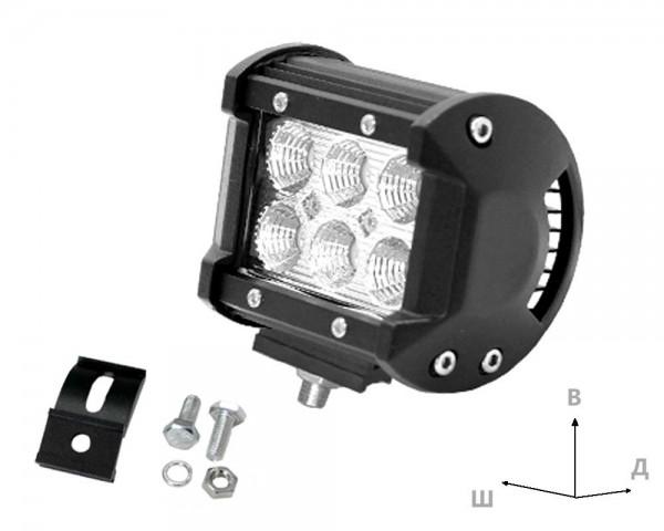 Работен LED фар със стойка 18W bar 4 инча разсеян
