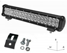 Работен LED фар със стойка 108W bar 17 инча комбиниран