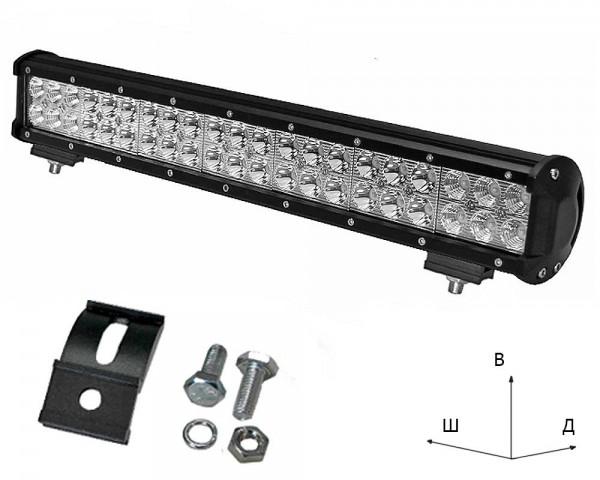 Работен LED фар със стойка 126W bar 20 инча комбиниран