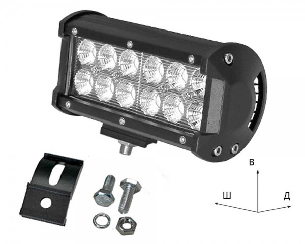 Работен LED фар със стойка 36W bar 7 инча разсеян