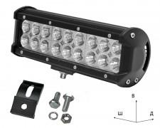 Работен LED фар със стойка 54W bar 9 инча разсеян